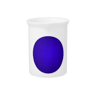 Blue Golf Ball Drink Pitcher