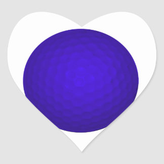 Blue Golf Ball Heart Sticker