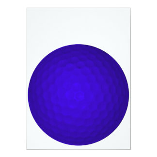 Blue Golf Ball Personalized Invites