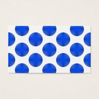 Blue Golf Ball Pattern Business Card