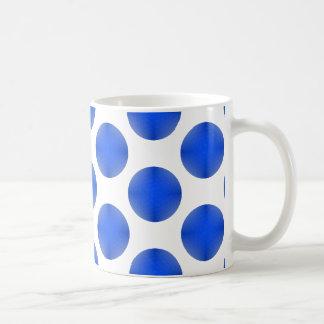 Blue Golf Ball Pattern Coffee Mug