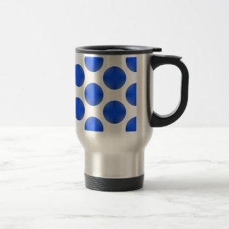 Blue Golf Ball Pattern Travel Mug