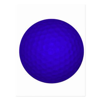 Blue Golf Ball Postcard