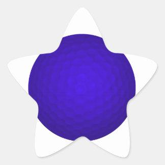Blue Golf Ball Star Sticker