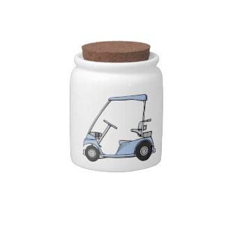 Blue Golf Cart Candy Jar