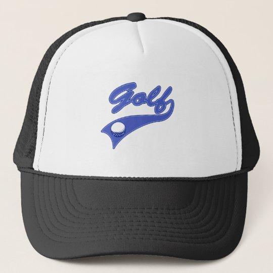 Blue Golf Logo Trucker Hat