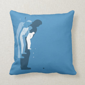 Blue Golf Swing Abstract Pattern Throw Pillow