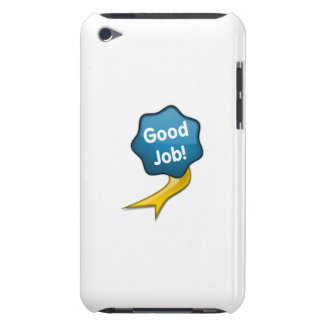 Blue Good Job Ribbon Barely There iPod Cases