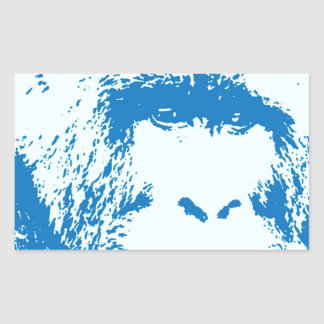 Blue Gorilla Rectangular Sticker