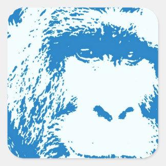 Blue Gorilla Square Sticker