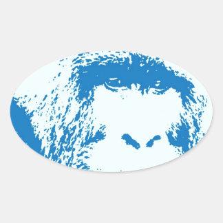 Blue Gorilla Oval Sticker