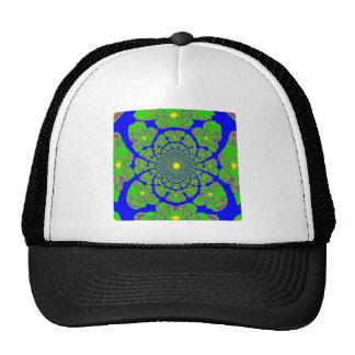 Blue Gothic Lacey Web by Sharles Mesh Hat