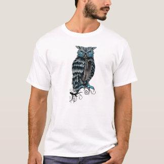 Blue Gothic Owl Halloween T-Shirt