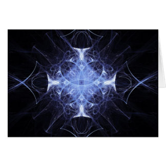 Blue Gothic Princess Fractal Greetings Card