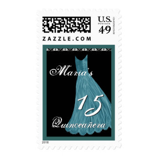 BLUE Gown - 15th Quinceanera Stamps