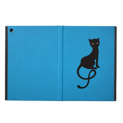 Blue Gracious Evil Black Cat Folio Cover For iPad Air
