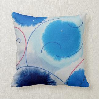 blue grade A cotton throwpillow Throw Pillow