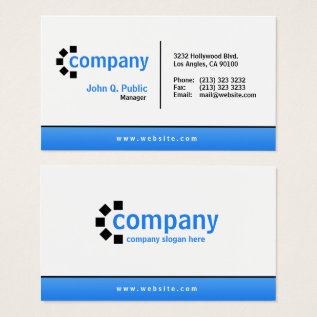 Blue Gradient Bottom Simple Modern Professional Business Card at Zazzle