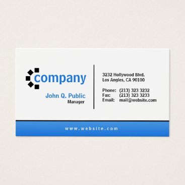 J32Teez Blue Gradient Bottom Simple Modern Professional Business Card
