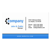 Blue Gradient Bottom Simple Modern Professional Double-Sided Standard Business Cards (Pack Of 100)