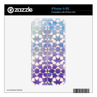 Blue Gradient Ornamental Tile Pattern Skins For The iPhone 4S