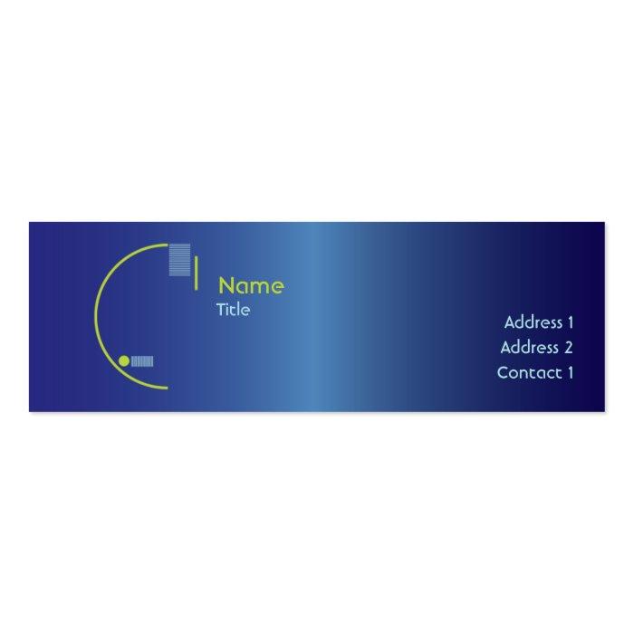 Blue Gradient - Skinny Mini Business Card