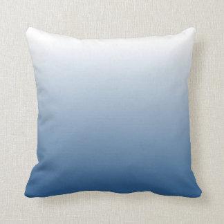 Blue Gradient Throw Pillow