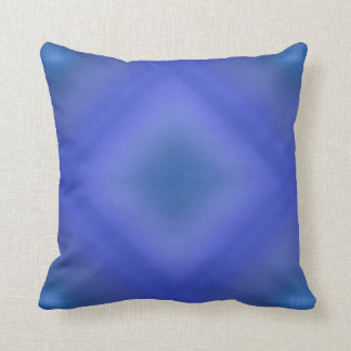 Blue Gradient Throw Pillow