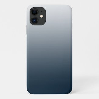 Blue gradient - top to bottom iPhone 11 case