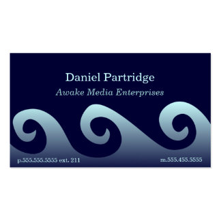 Blue Gradient Waves Double-Sided Standard Business Cards (Pack Of 100)