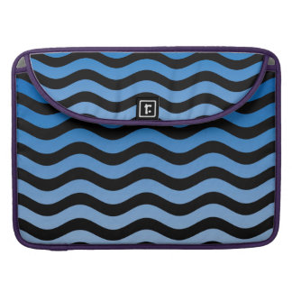 Blue Gradient Wavy Stripes MacBook Pro Sleeve