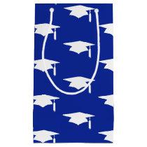 Blue Graduation Caps Pattern - Graduation Small Gift Bag