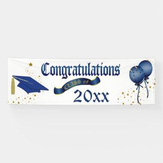 Blue Graduation Class Of Banner
