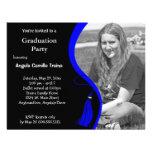 Blue Graduation Horizontal Photo Invitation