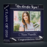 """Blue Graduation Memories scrapbook 3 Ring Binder<br><div class=""""desc"""">Blue Graduation Memories scrapbook Binder. A unique Photo Scarpbook for your Grad to collect memories . The design with a Blue texture effect background and a space for the Grad&#39;s photo with various quotes makes the binder a unique gift for the Grad. A perfect gift for the parents and grandparents...</div>"""