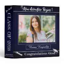 Blue Graduation Memories scrapbook 3 Ring Binder