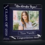 """Blue Graduation Memories scrapbook Binder<br><div class=""""desc"""">Blue Graduation Memories scrapbook Binder. A unique Photo Scarpbook for your Grad to collect memories . The design with a Blue texture effect background and a space for the Grad&#39;s photo with various quotes makes the binder a unique gift for the Grad. A perfect gift for the parents and grandparents...</div>"""