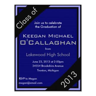 Blue Graduation Party Invitation