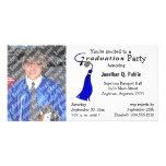 Blue Graduation Party Photo Invitation Personalized Photo Card