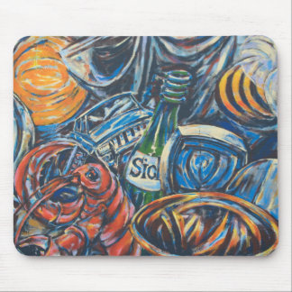Blue Graffiti Art from the East Side Gallery Mouse Pad