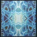 "Blue Graffiti Cloth Napkin<br><div class=""desc"">Abstract Paint Scribbles doodles graffiti design in bright blue.</div>"