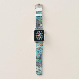 Blue Graffiti Design Apple Watch Band. Apple Watch Band