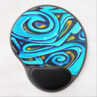 Blue Graffiti Gel Mouse Pad