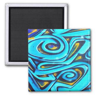 Blue Graffiti Fridge Magnet