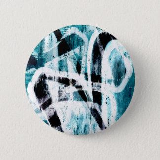 Blue graffiti pattern button