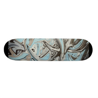 Blue Graffiti Skateboard Deck