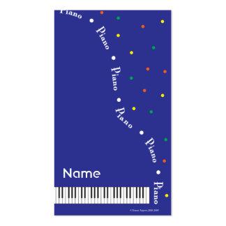 Blue Grand Piano Business Card