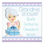 Blue Grandma Baby Shower Custom Announcement