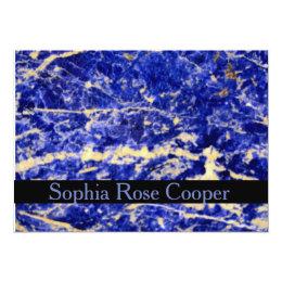Blue Granite Card