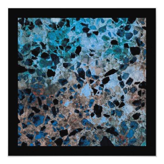 Blue Granite Invitations